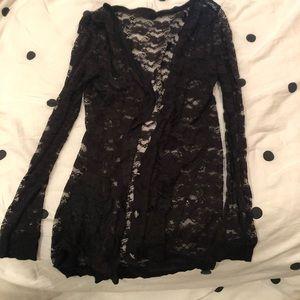 5️⃣ for 2️⃣5️⃣ | Black Lace Long Sleeve Cardigan